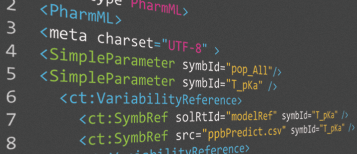 PharmML for in silico prediction